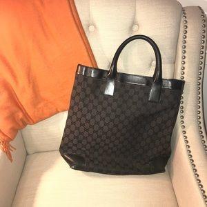 100% Authentic Gucci Tote Bag Purse Black